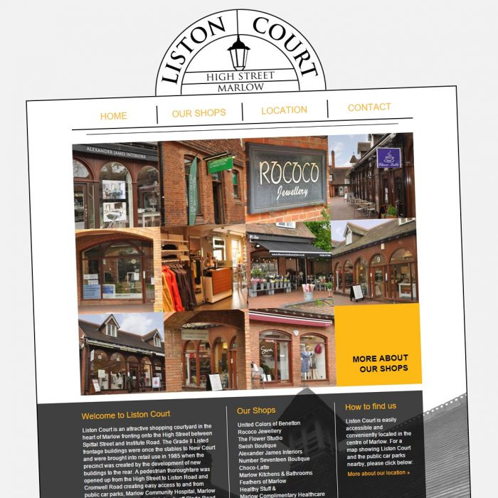 Liston Court Marlow Website preview