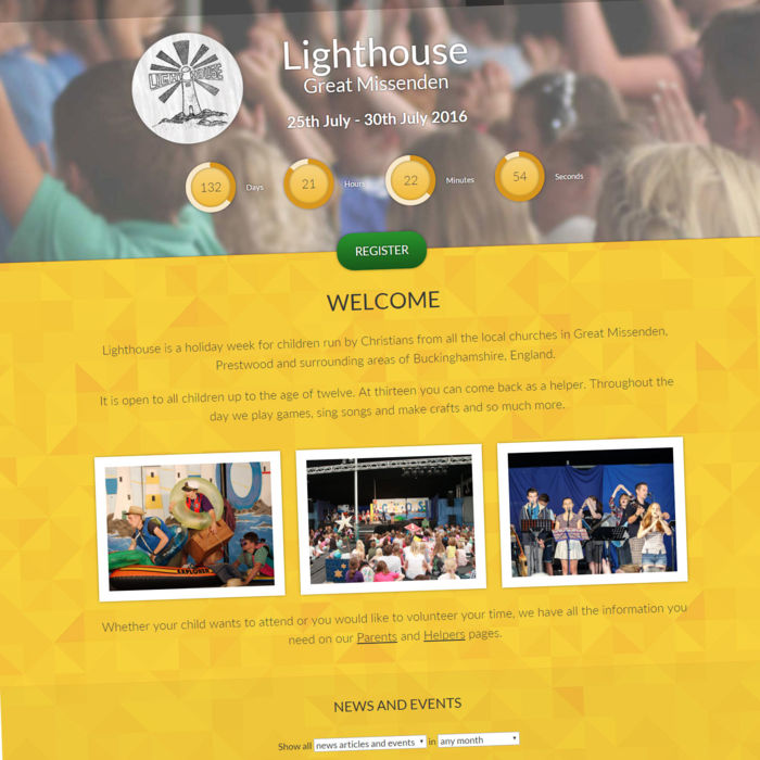 Lighthouse Website preview